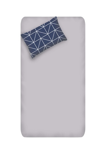 EnLora Home Enlora %100 Doğal Pamuk Çarşaf+Yastık Seti Tek Kişilik Gina Antrasit